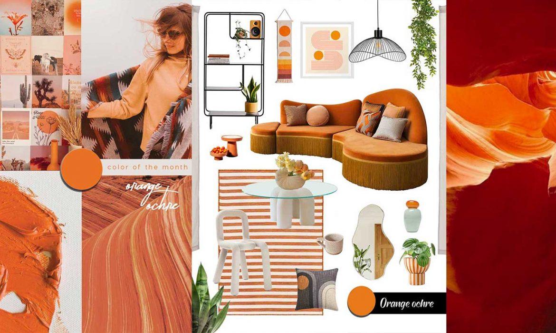SHOP IT | Seductive orange ochre to brighten your living room