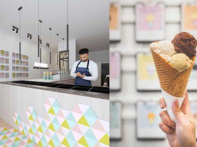 E-DESIGN | Ice cream Shop Interior Design in California